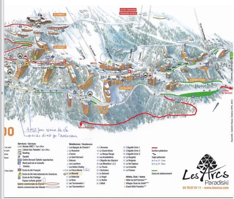 Area map Location Studio apartment 80949 Les Arcs