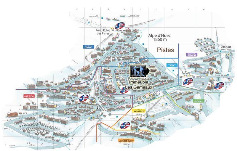 Property map Location Studio apartment 15933 Alpe d'Huez