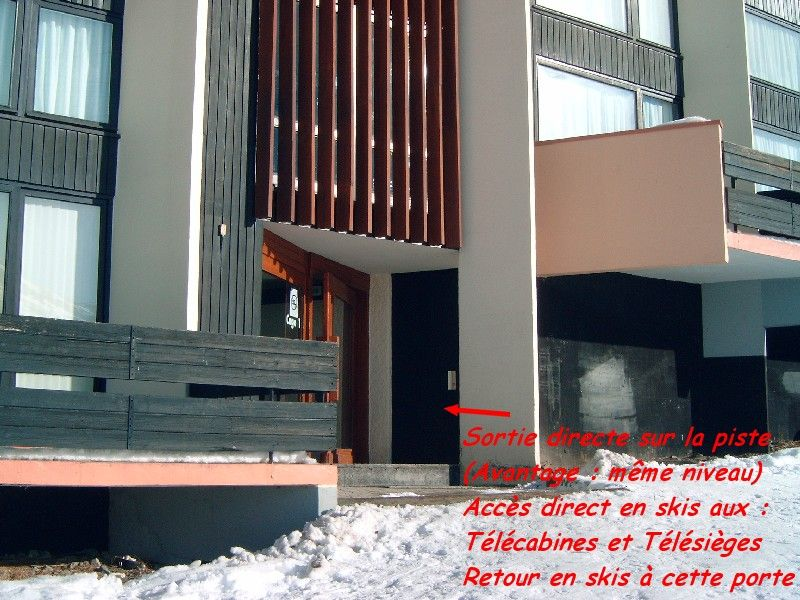 Outside view Location Studio apartment 1615 Les Menuires