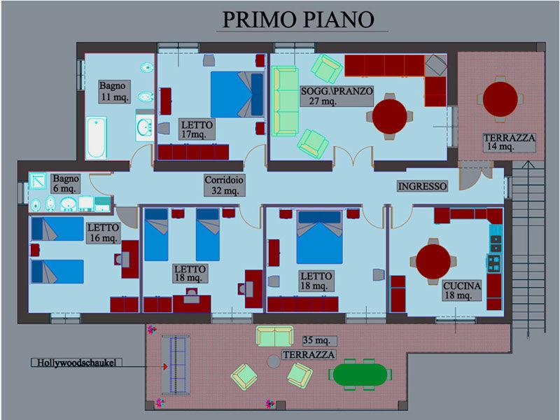 Property map Location Villa 20490 Ascea