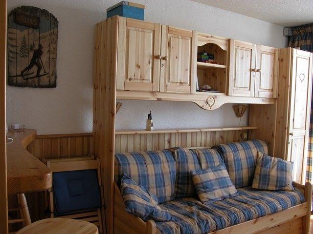 Sitting room Location Studio apartment 211 Les Arcs