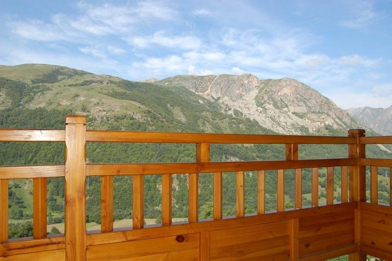View from the balcony Location Chalet 2665 Saint Martin de Belleville