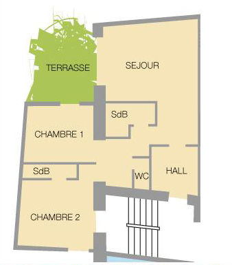 Property map Location Apartment 27146 Valloire