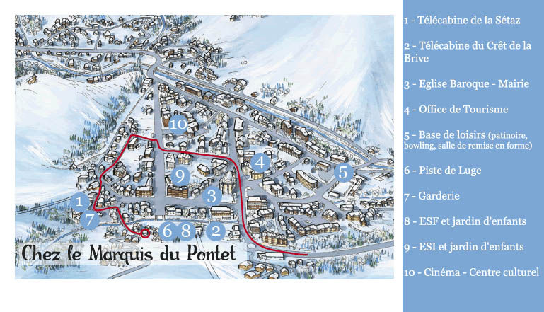 Area map Location Apartment 27146 Valloire