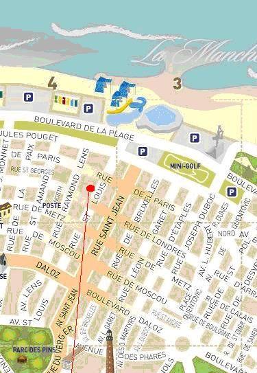 Area map Location Studio apartment 38630 Le Touquet