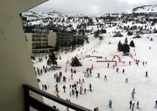 View from the balcony Location Studio apartment 3965 Arette La Pierre Saint Martin