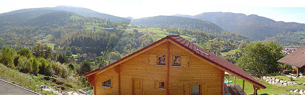 View from the balcony Location Chalet 4643 Gérardmer