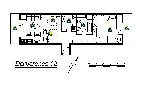 Property map Location Apartment 4725 Nendaz