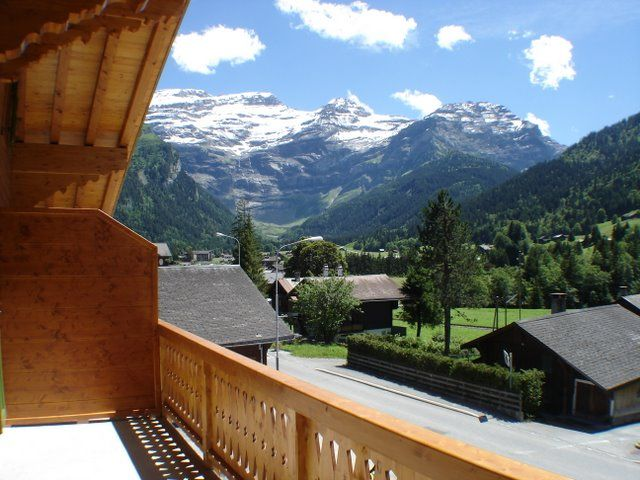 View from the balcony Location Apartment 4732 Les Diablerets