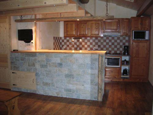 Open-plan kitchen Location Apartment 50770 Val Cenis