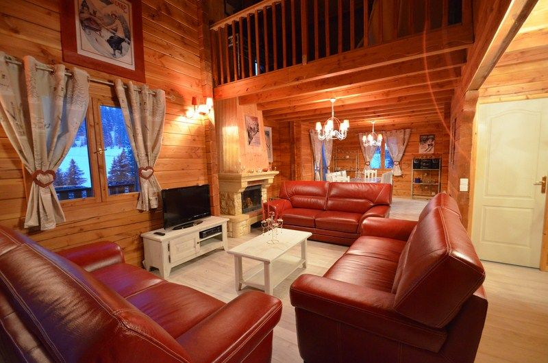 Living room Location Chalet 51561 Les Saisies