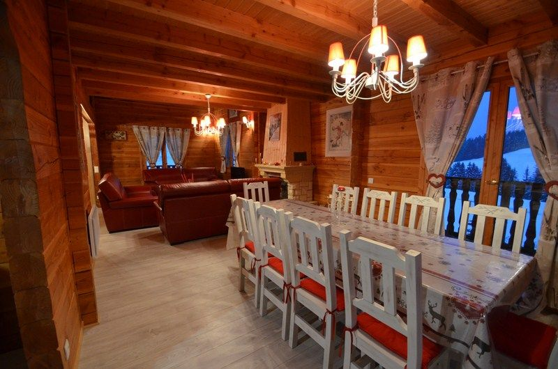 Dining room Location Chalet 51561 Les Saisies