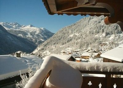 View from the balcony Location Chalet 577 Champagny en Vanoise