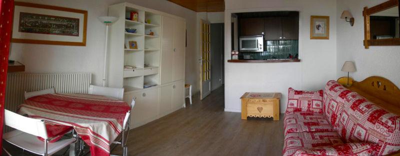 Open-plan kitchen Location Studio apartment 58480 Alpe d'Huez