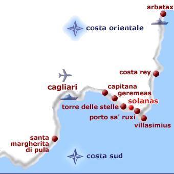 Area map Location Villa 58936 Solanas