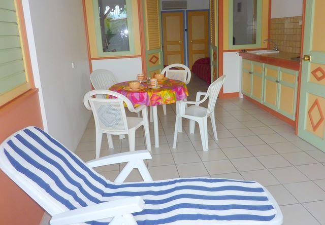 View from terrace Location Studio apartment 61497 Sainte Anne (Martinique)