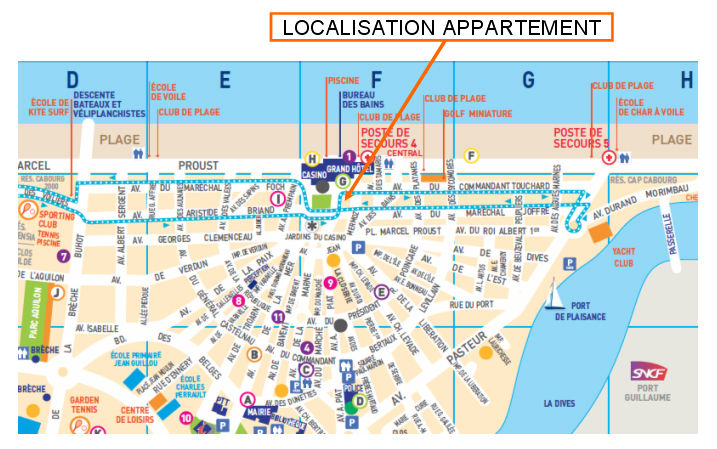 Area map Location Apartment 63247 Cabourg