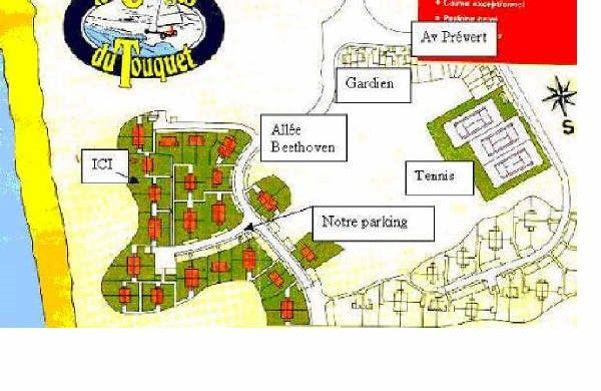 Area map Location Apartment 7751 Le Touquet
