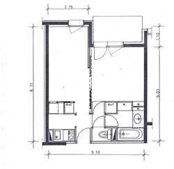 Property map Location Studio apartment 66008 Valmorel