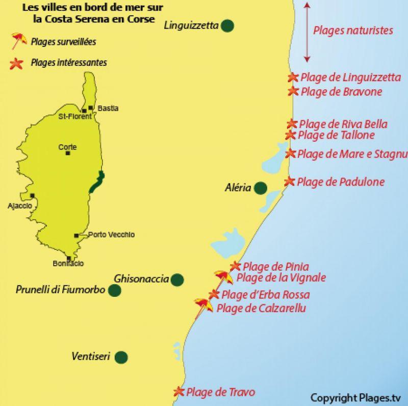 Area map Location Apartment 114342 Pietrapola les Bains