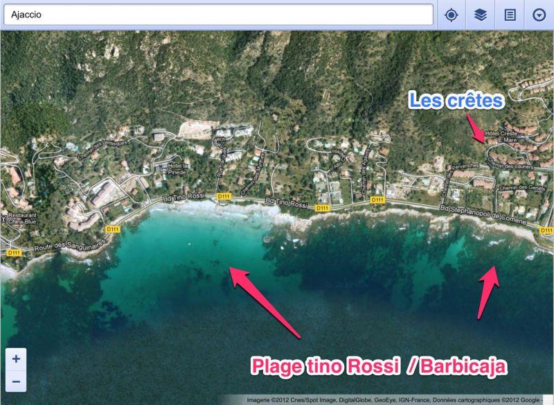 Area map Location Studio apartment 66053 Ajaccio