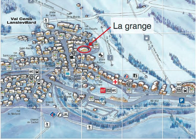 Area map Location Apartment 109968 Val Cenis