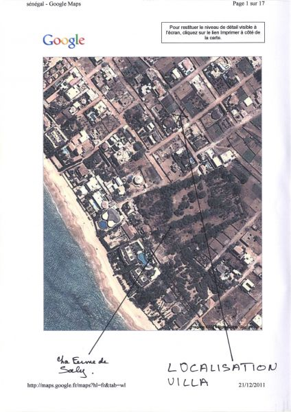 Property map Location Apartment 111793 Saly