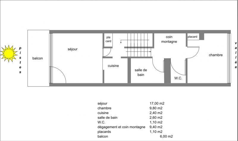 Property map Location Apartment 67748 Puy Saint Vincent