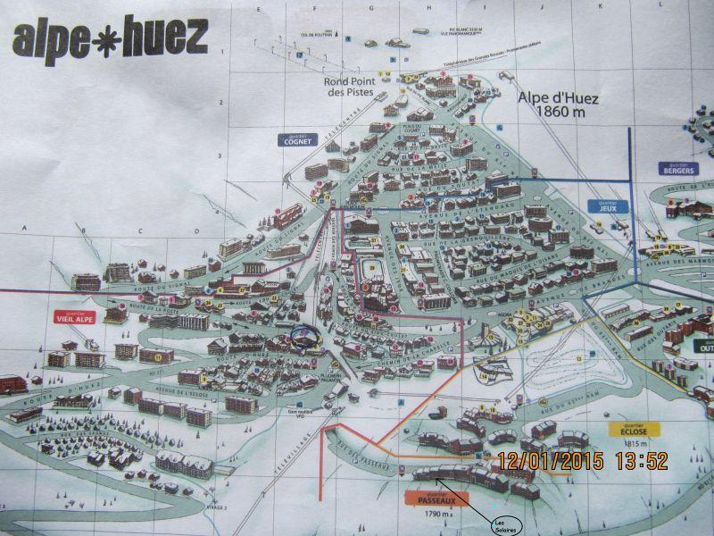 Property map Location Studio apartment 93111 Alpe d'Huez
