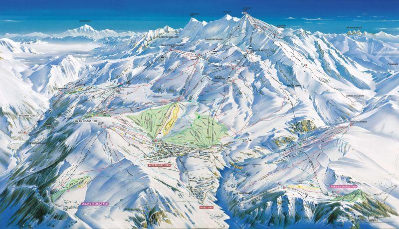 Area map Location Studio apartment 93111 Alpe d'Huez