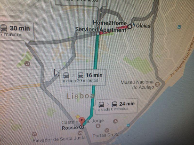 Area map Location Apartment 106641 Lisbon