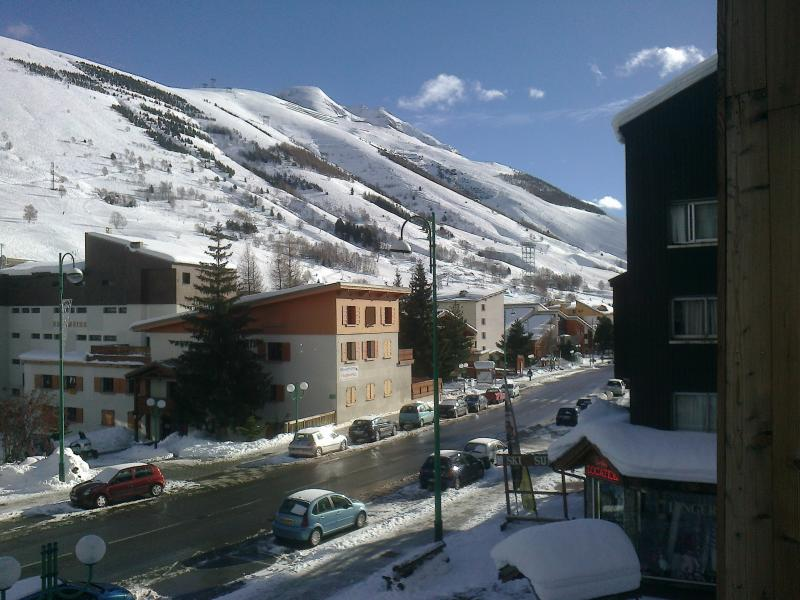 View from the balcony Location Studio apartment 73843 Les 2 Alpes