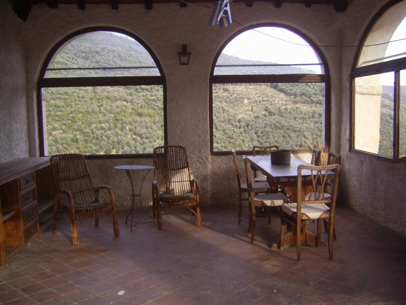 View from the balcony Location Self-catering property 80918 Dolcedo