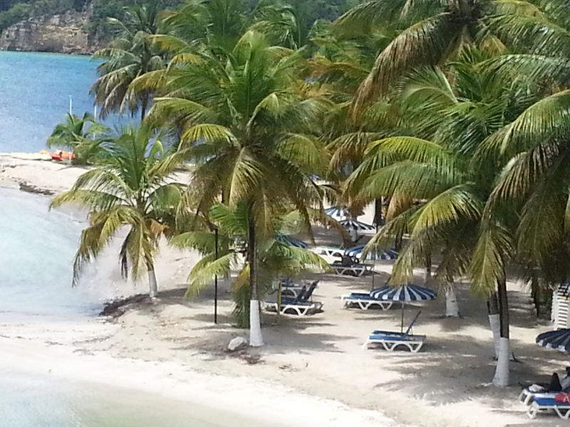 View from terrace Location Apartment 86727 Gosier (Guadeloupe)