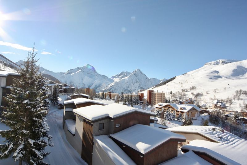 View from terrace Location Apartment 101201 Les 2 Alpes