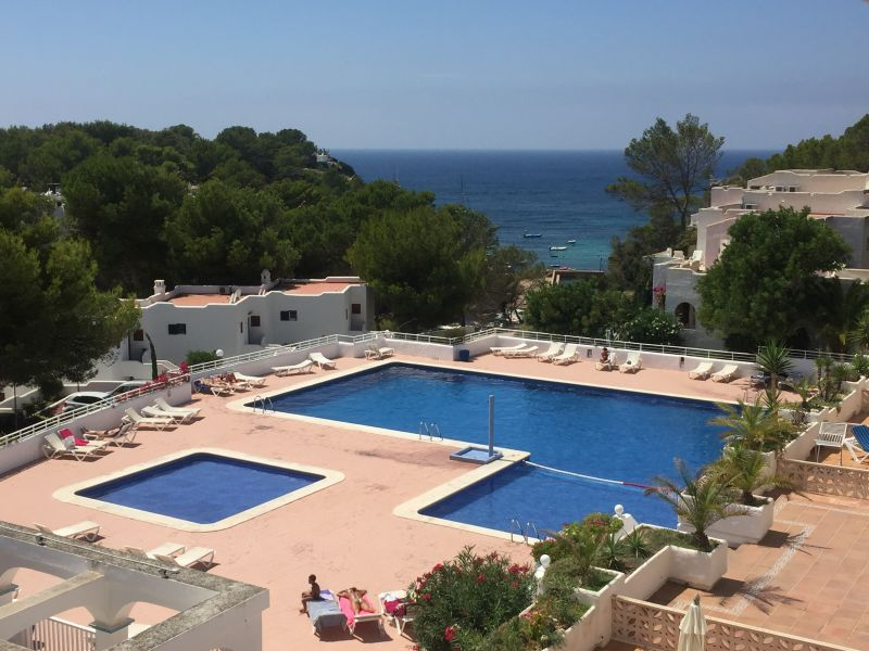 View from terrace Location Apartment 110036 Cala Tarida