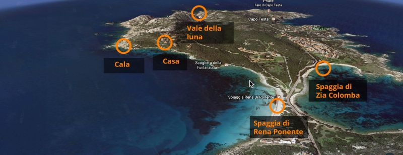 Area map Location Villa 90063 Santa Teresa di Gallura