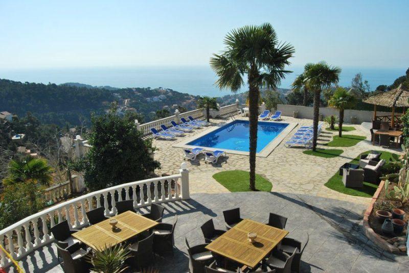 View from the balcony Location Villa 117948 Lloret de Mar