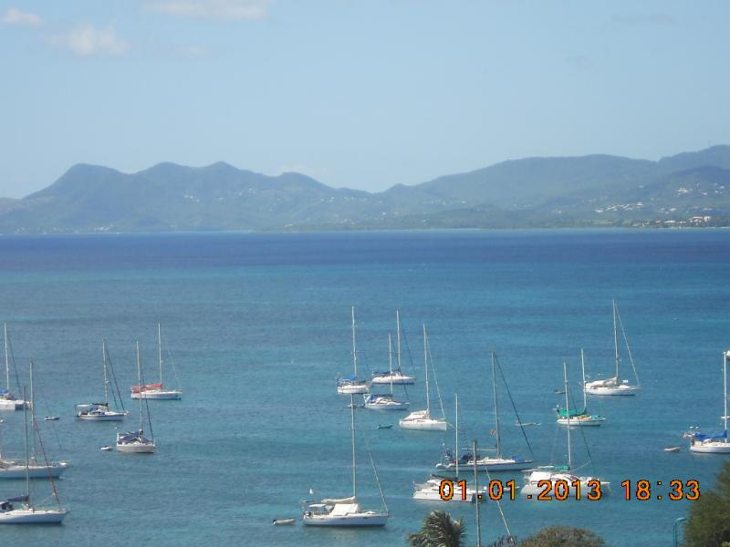 View from the balcony Location Apartment 67787 Sainte Anne (Martinique)
