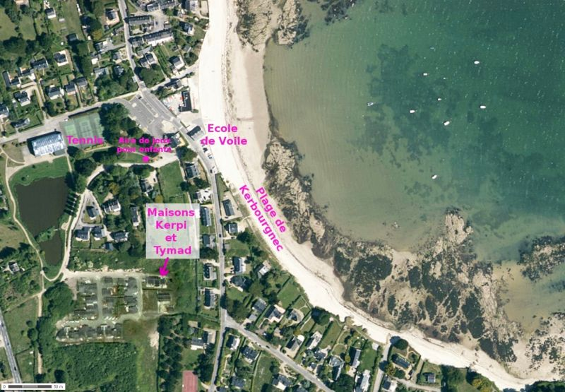 Area map Location Villa 81399 Saint Pierre Quiberon