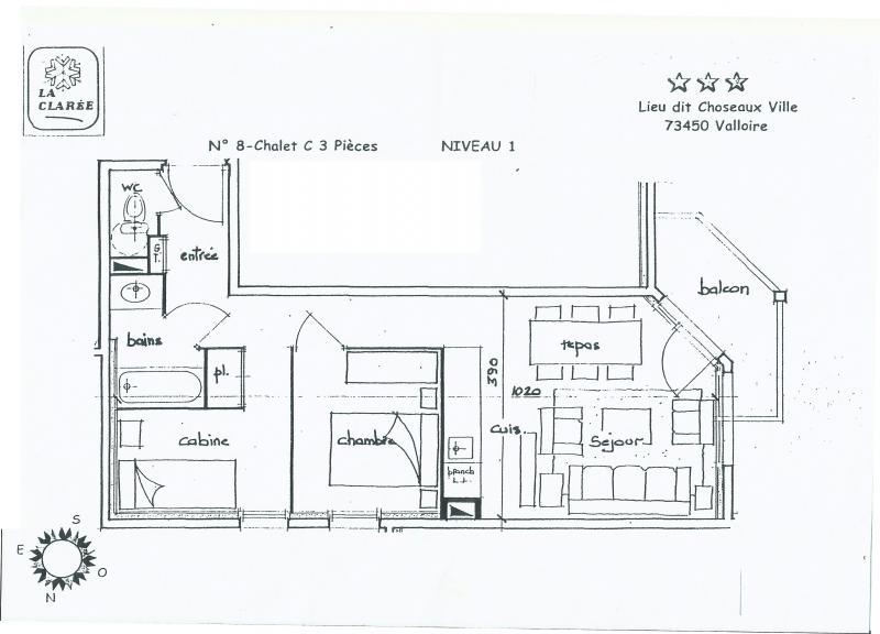 Property map Location Apartment 82534 Valloire