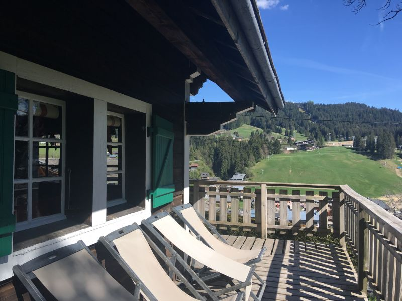 View from the balcony Location Chalet 1350 Les Gets