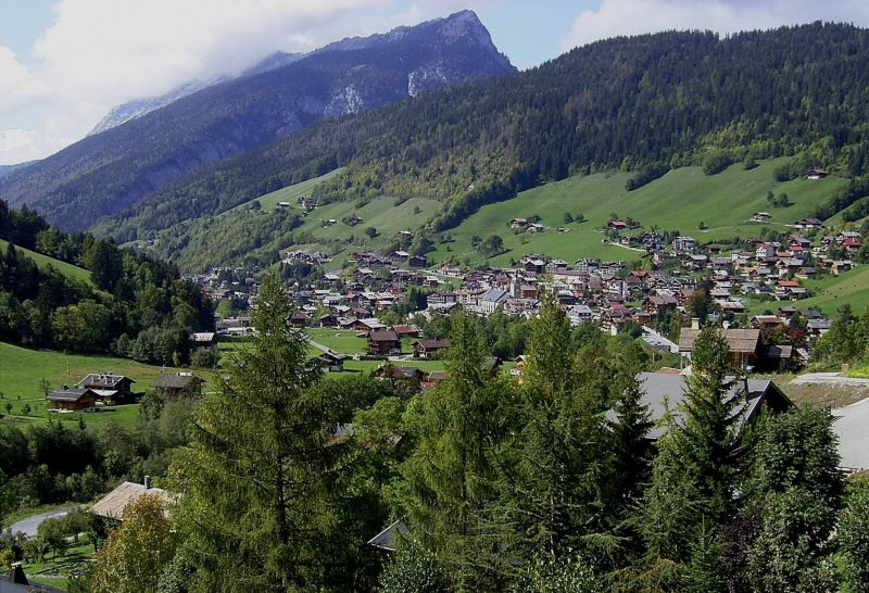View from terrace Location Apartment 1360 Le Grand Bornand