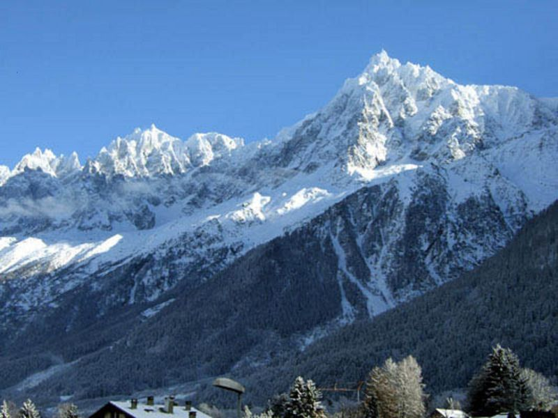 View from the balcony Location Studio apartment 1409 Les Houches