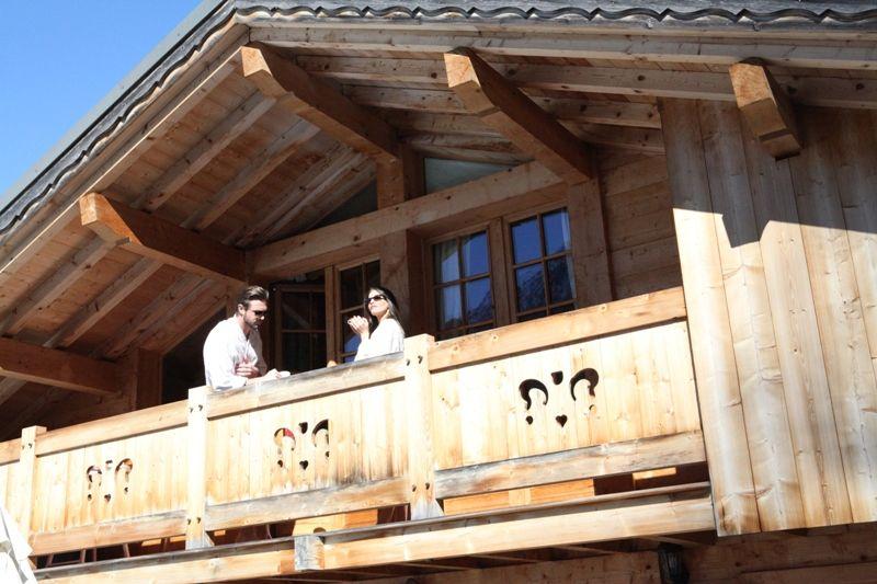 Balcony Location Chalet 1412 Chamonix Mont-Blanc