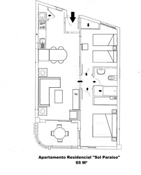 Property map Location Apartment 15419 Adeje