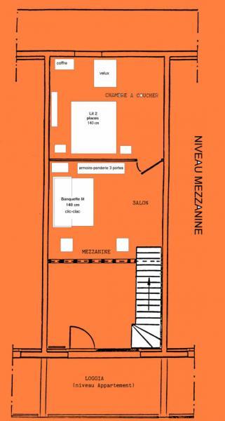 Property map Location Apartment 1547 La joue du Loup