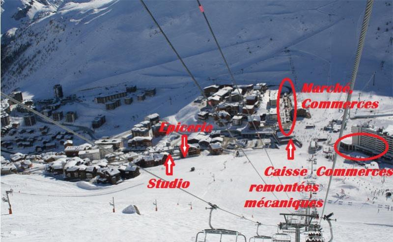 Outside view Location Studio apartment 16043 Tignes