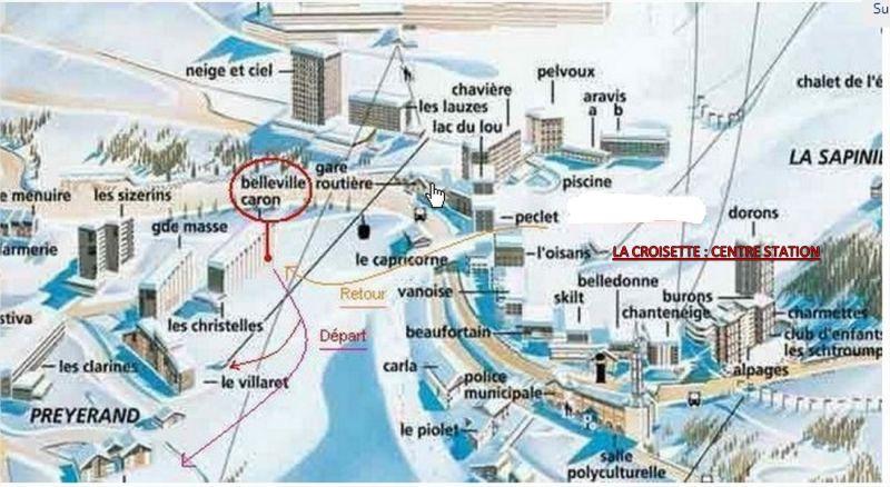 Property map Location Studio apartment 1615 Les Menuires