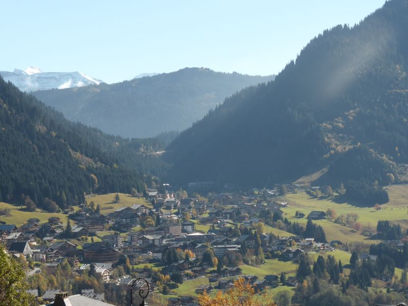 View from the balcony Location Studio apartment 16574 Châtel